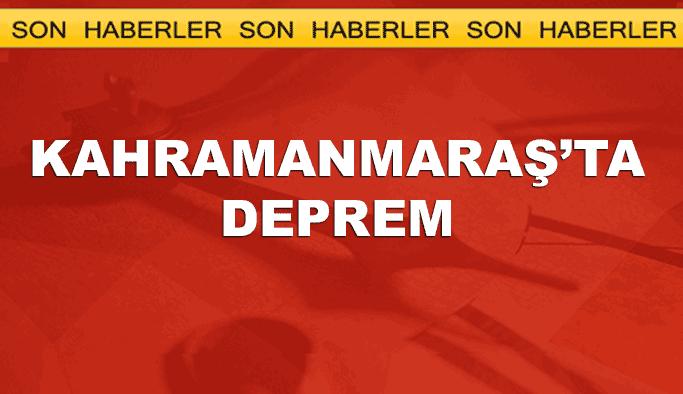 Kahramanmaraş'ta 4,3 büyüklüğünde deprem