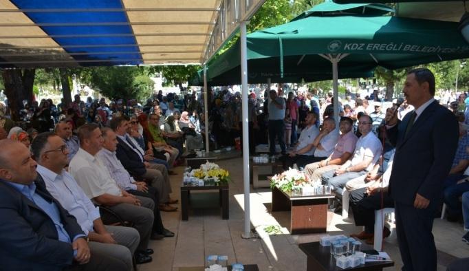 Ereğli'de binlerce kişi mezarlıkları ziyaret etti
