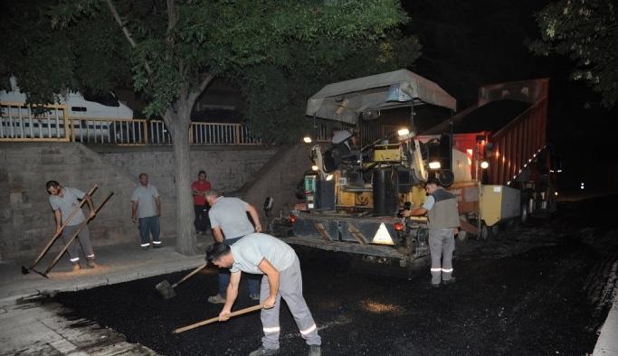 Konya'da ana arterler ve çevre yollarında asfalt yenileniyor