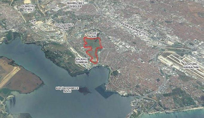 Küçükçekmece'deki boş araziye 7 bin konut inşa ediliyor