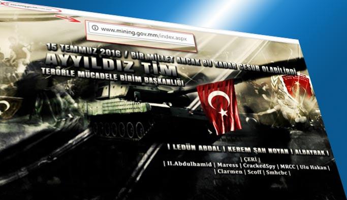 Türk hacker'lardan Myanmar'a siber saldırı
