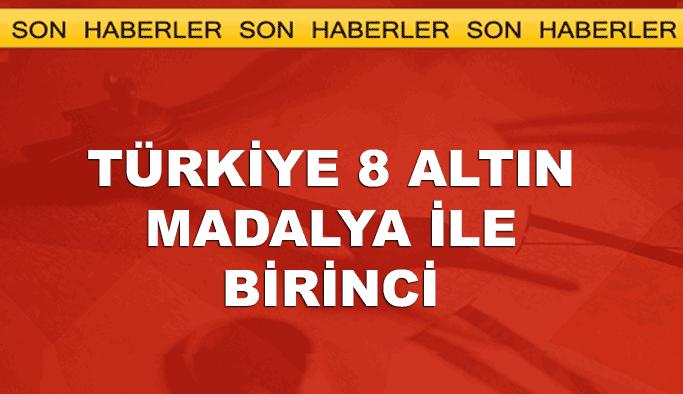 Türkiye 8 altın madalya ile birinci