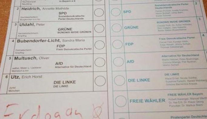 Almanya'daki seçimlerde sandıktan Erdoğan da çıktı