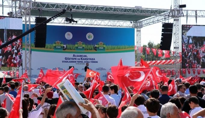Alsancak, Göztepe ve Karşıyaka statlarının temeli atıldı
