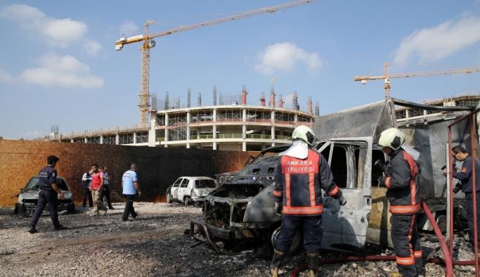 Ankara'da araç yangını