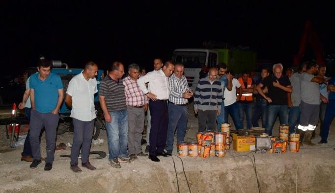 ASKİ ekiplerinden Çatalan isale hattına erken onarım