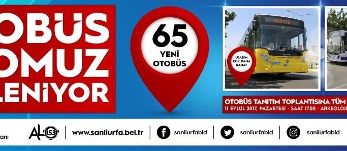 Büyükşehir 65 adet yeni otobüsü tanıtıyor