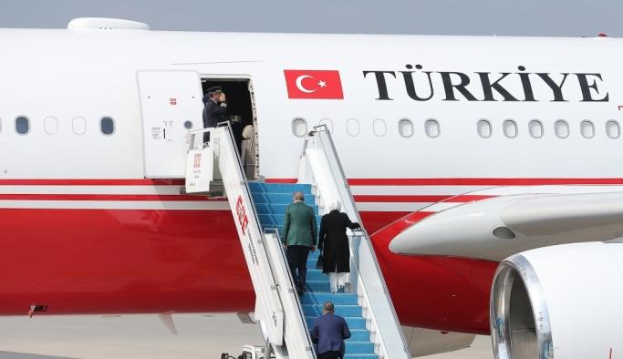 Cumhurbaşkanı Erdoğan, ABD'ye gitti