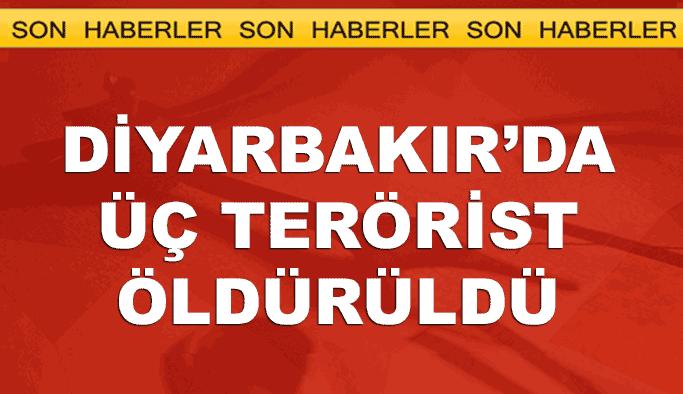 Diyarbakır'da 3 terörist ölü olarak ele geçirildi