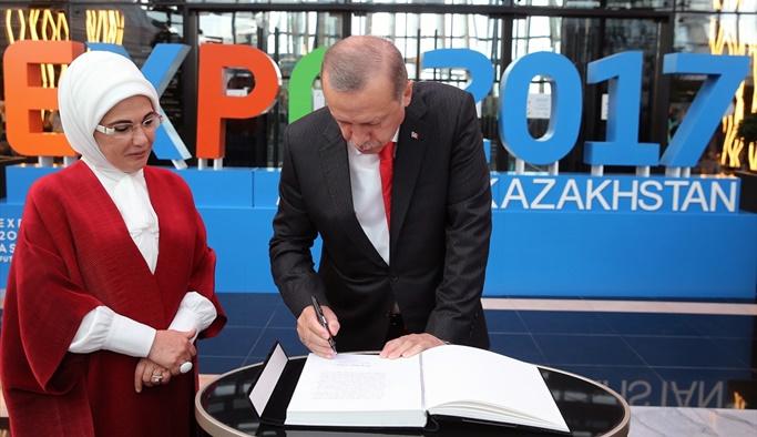 Erdoğan EXPO 2017 Fuar Alanı'nı ziyaret etti