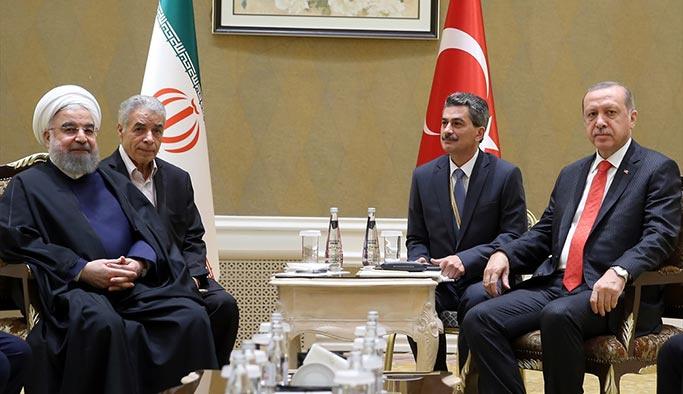 Erdoğan ile Ruhani Kazakistan'da görüştü