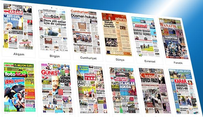 Gazetelerin bugünkü manşetleri 13 Eylül 2017
