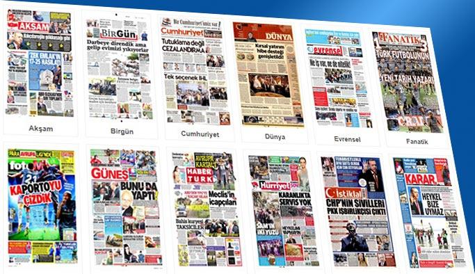 Gazetelerin bugünkü manşetleri 14 Eylül 2017