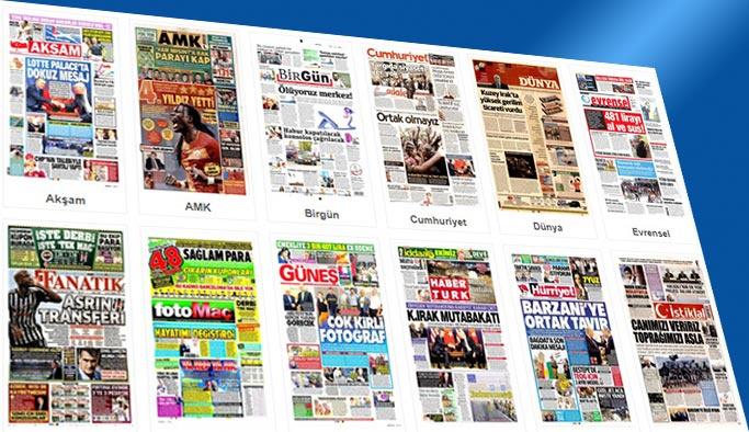 Gazetelerin bugünkü manşetleri 22 Eylül 2017