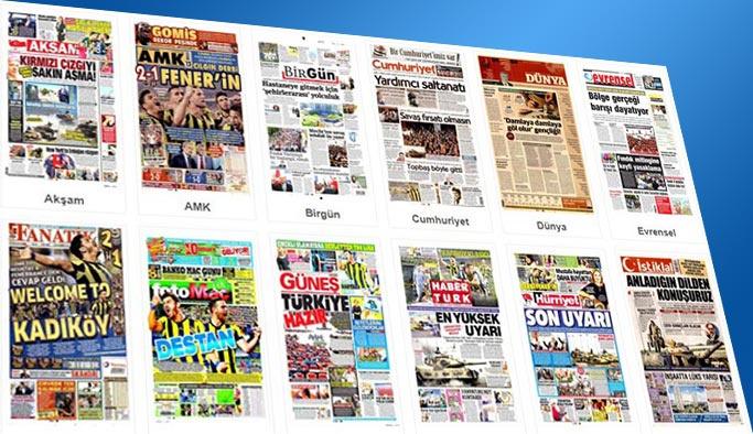 Gazetelerin bugünkü  manşetleri 24 Eylül 2017