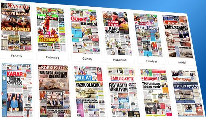 Gazetelerin bugünkü manşetleri 25 Eylül 2017