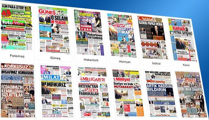 Gazetelerin bugünkü manşetleri 29 Eylül 2017