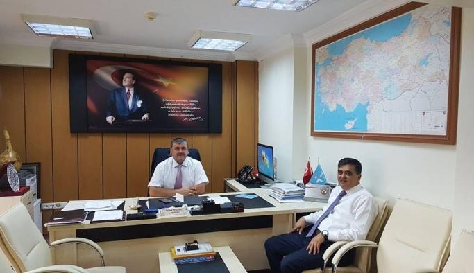 İŞKUR Müdürü ve Başkan Yalçın bir araya geldi
