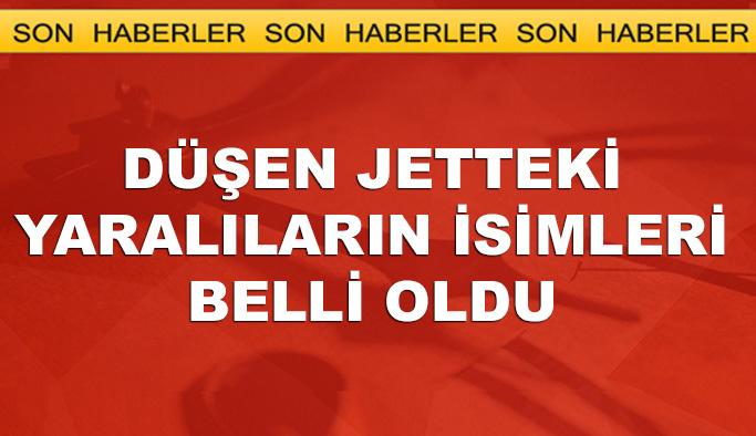 İstanbul'da düşen jette bulunanların isimleri açıklandı