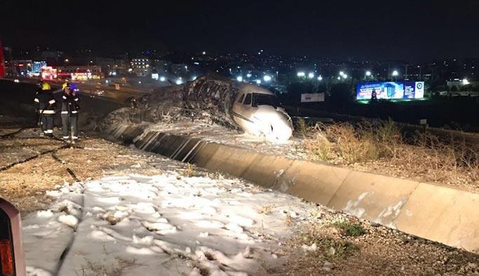 İstanbul'da düşen özel jetle ilgili ilk resmi açıklamalar