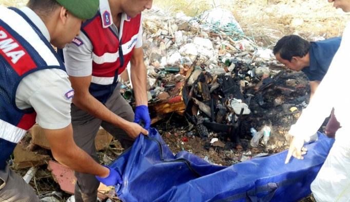 İzmir'in Tire ilçesinde yanmış erkek cesedi bulundu