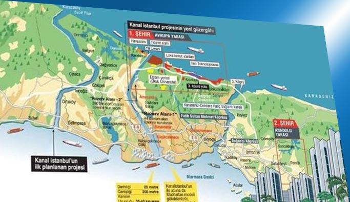 Kanal İstanbul'da imzalar atıldı