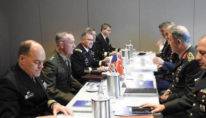 OrgeneralAkar, ABD Genelkurmay Başkanı ile görüştü
