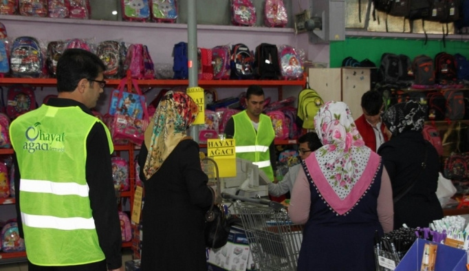 Sivas'ta 2 bin öğrenciye kırtasiye yardımı