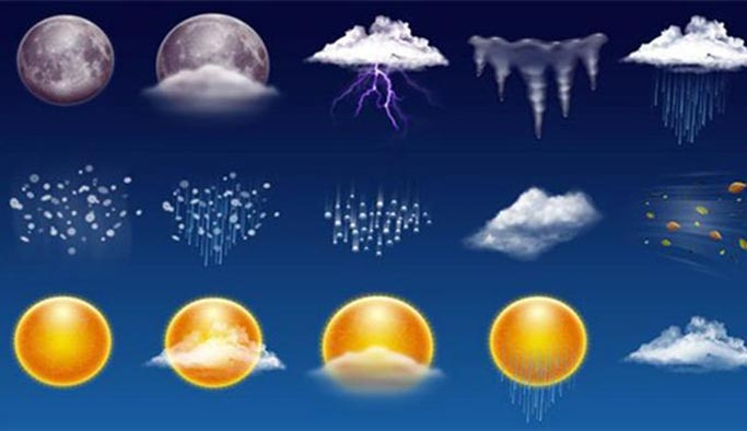 Ülke genelinde 4 günlük hava tahmini HARİTALI