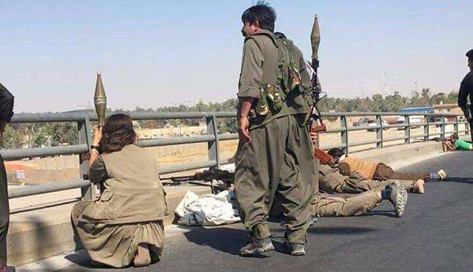 Barzani sözde yalanlamıştı! İşte Kerkük'teki PKK'lılar