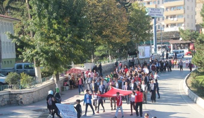 Bilecik'te Amatör Spor Haftası kutlama yürüyüşü düzenlendi