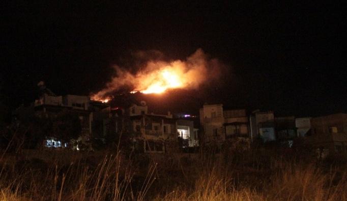 Bodrum'da yangın, yerleşim yerleri tehlikede