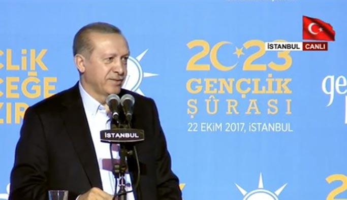 Cumhurbaşkanı Erdoğan AK Partili gençlere sesleniyor