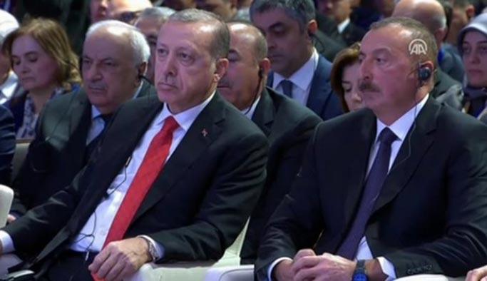 Erdoğan Bakû'deki açılışta konuştu: Bu başarı hepimizin