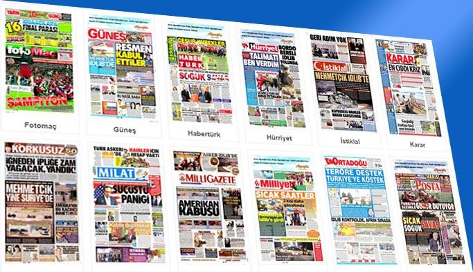 Gazetelerin bugünkü manşetleri 10 Ekim 2017