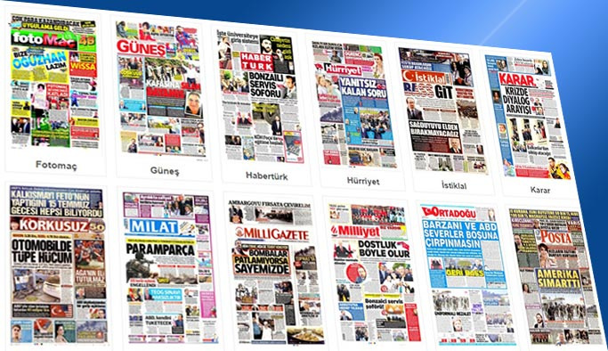 Gazetelerin bugünkü manşetleri 12 Ekim 2017