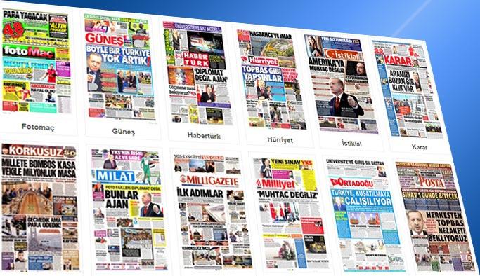 Gazetelerin bugünkü manşetleri 13 Ekim 2017
