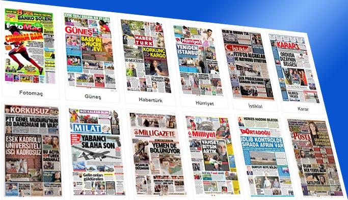 Gazetelerin bugünkü manşetleri 15 Ekim 2017