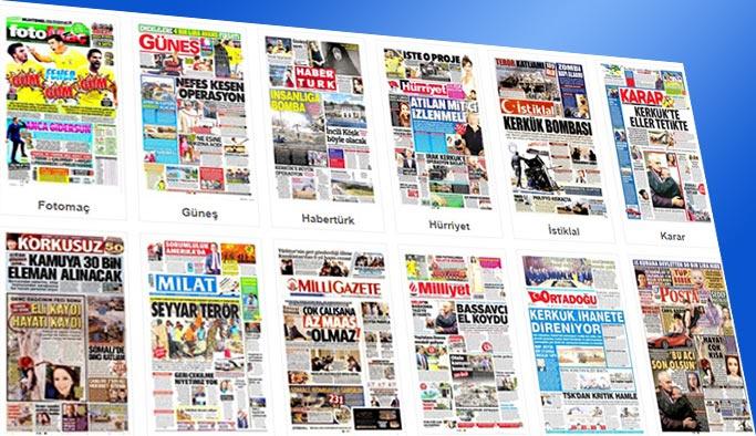 Gazetelerin bugünkü manşetleri 16 Ekim 2017