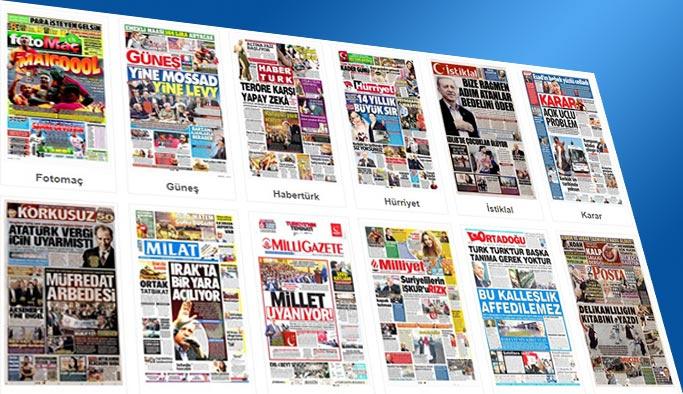 Gazetelerin bugünkü manşetleri 1 Ekim 2017