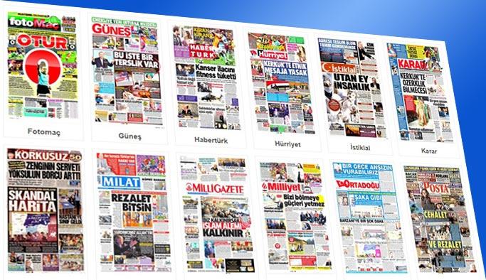 Gazetelerin bugünkü manşetleri 23 Ekim 2017