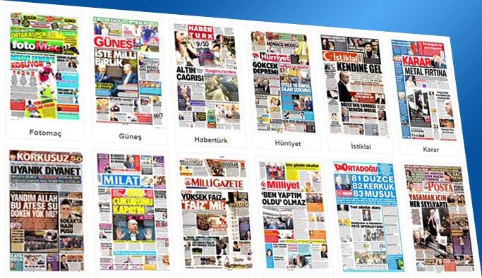 Gazetelerin bugünkü manşetleri 4 Ekim 2017