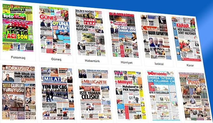 Gazetelerin bugünkü manşetleri 7 Ekim 2017