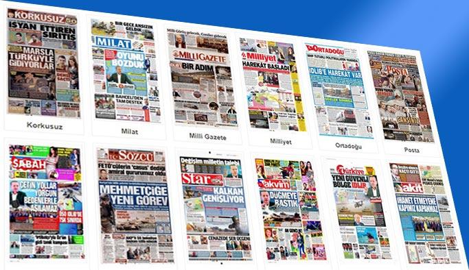 Gazetelerin bugünkü manşetleri 8 Ekim 2017