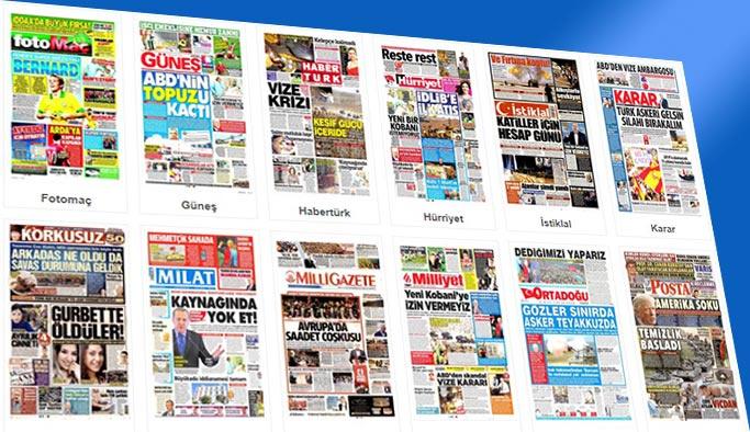 Gazetelerin bugünkü manşetleri 9 Ekim 2017