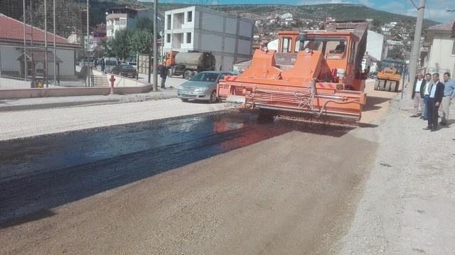 Gölpazarı ilçesinde yapılan asfalt çalışmalarında sona gelindi
