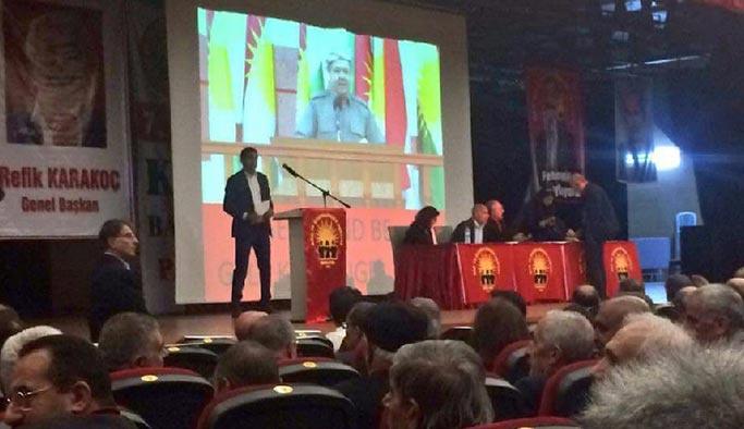 HAK-PAR kongresindeki Barzani posteri indirildi