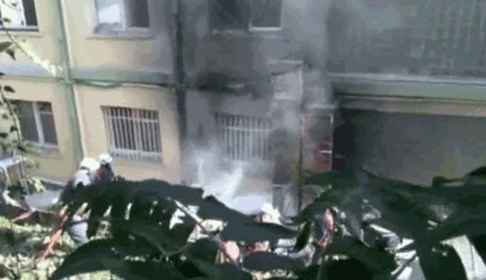 Haseki Hastanesi'nde yangın