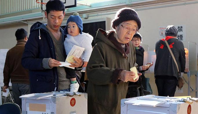 Japonya'da seçim sonuçları belli oldu