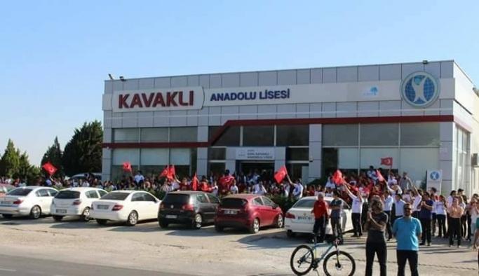 Kavaklı Anadolu Lisesi öğrencileri Cumhurbaşkanlığı Bisiklet Turunu karşıladı